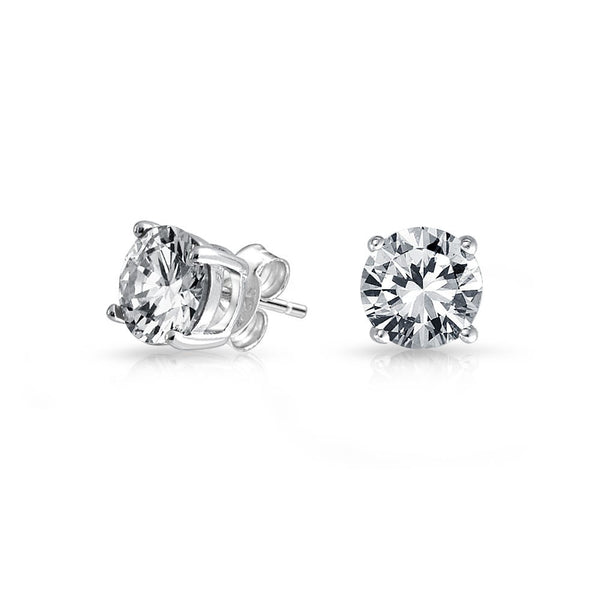 Wholesale Sterling Silver CZ Glass studs 6mm - 9mm