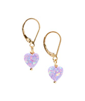 14/20 Gold Filled Opalite Heart Earring By Minigems