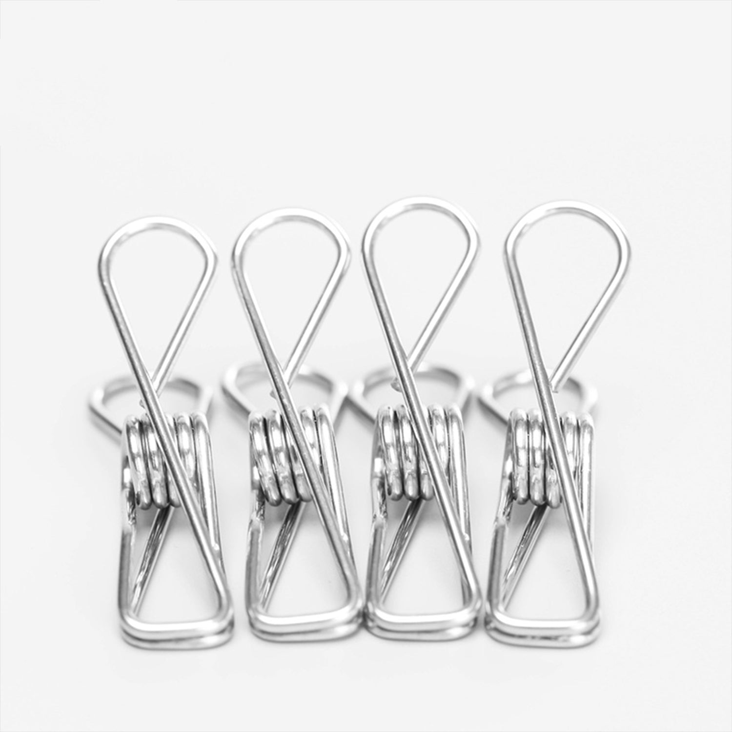 4pcs Stainless Steel Metal Spring Clips