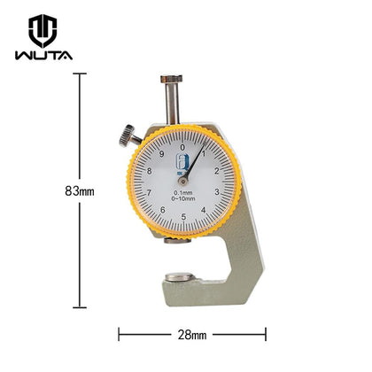 0-10mm/0.1mm dial Leather Thickness Gauge