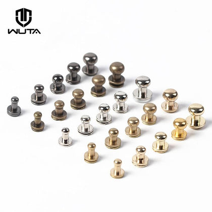 20pcs/pack Solid Brass Round Head Screw Studs