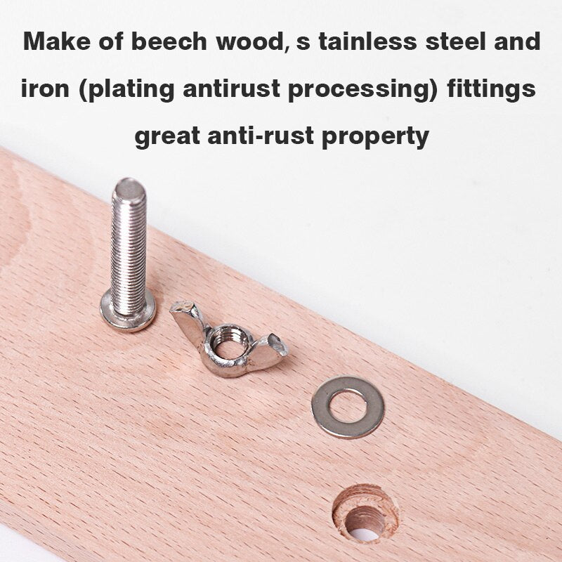Stainless+Beech Wood Leather Craft Sewing Horse
