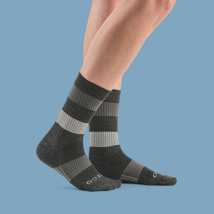 Commuter+ Ultra Light Merino Wool Crew Socks, Ash Grey