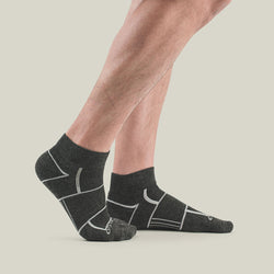 EnduroTec+ 1/4 Crew Merino Wool Socks, Charcoal