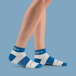 Make-A-Wish® StrideTec Cushioned 1/4 Crew Socks, Royal/White