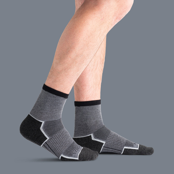 TrailTec+ Cushioned Merino Wool Mid Crew Socks