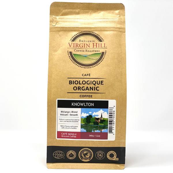 Organic Knowlton Blend Coffee (Filter Grind) - Brûleries Virgin Hill Coffee Roasters - 340g