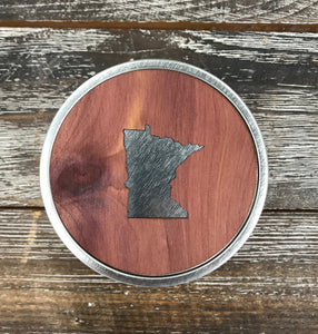 Minnesota Real Wood Candle