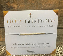 Load image into Gallery viewer, Milestone Birthday Bracelet