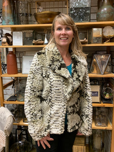Faux Fur Coat Snakeskin
