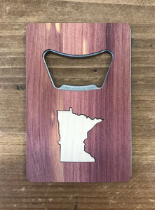 Minnesota Real Wood Credit Card Bottle Opener