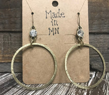 Load image into Gallery viewer, Gold Circle Earrings