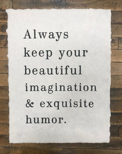 Paper Print – Always Keep