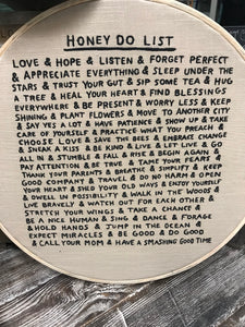 Embroidery Hoop – Honey Do List