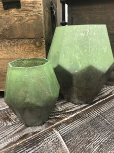 Hex Glass Candleholder