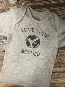 Love Your Earth Mother Gray T-Shirt