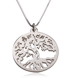 Tree of Life Pendant Necklace (Sterling Silver / 24k Yellow Gold Plated)