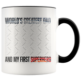 For Dad: Personalized Dad Superhero Mug