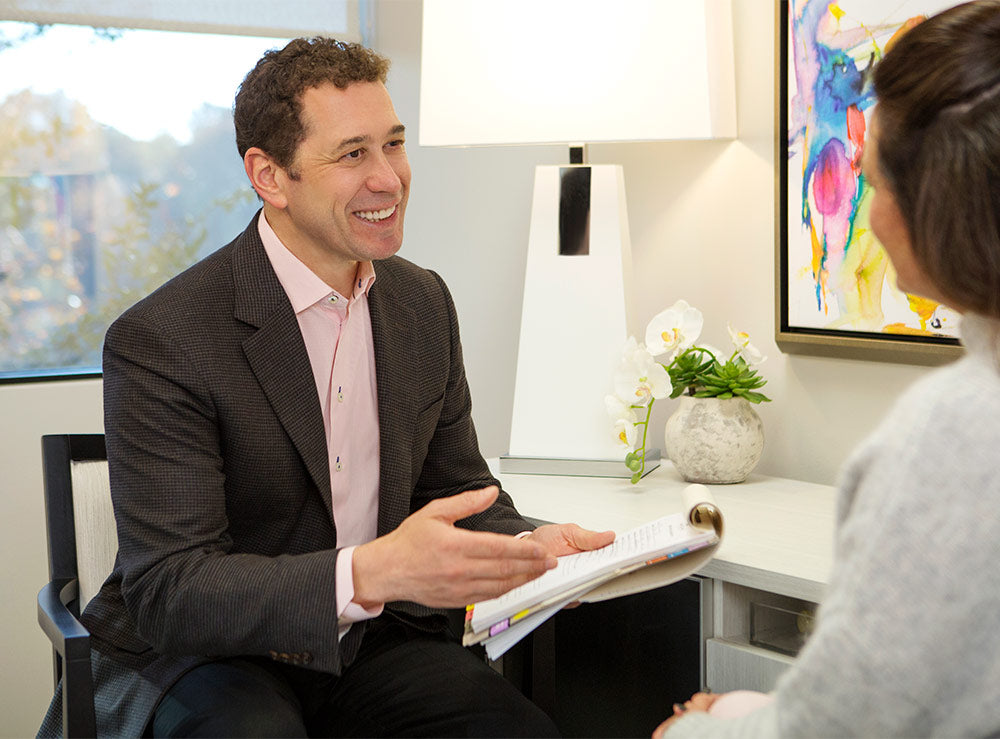 Dr. Branman with Patient Consult