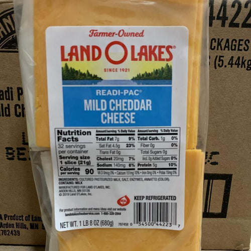 Cheese, Cheddar Sliced 1.5 lb - Hardie's Direct Houston, TX