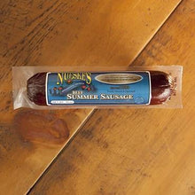 Load image into Gallery viewer, Nueske's Applewood Smoked All Beef Summer Sausage 10 oz package - Hardie's Direct, Austin TX