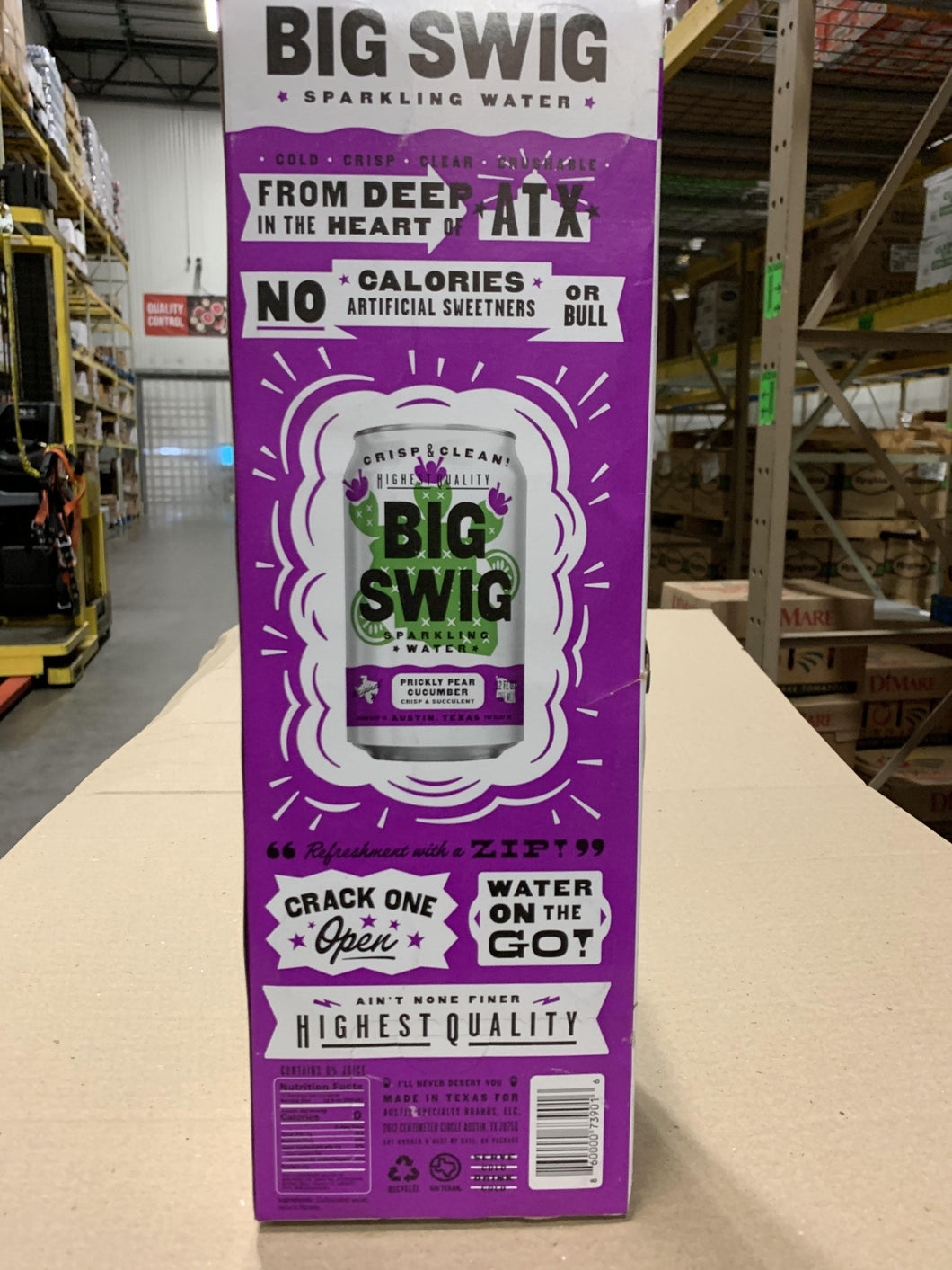 Water, Big Swig Sparkling Prickly Pear, 12-Pack