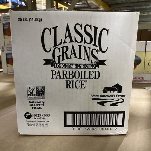 Rice, Enriched Long Grain Parboiled 25-LB Box