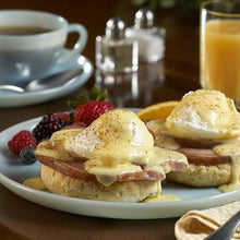 Load image into Gallery viewer, Make the best Eggs Benedict of your life with Nueske's Applewood Smoked Sliced Canadian Bacon - Hardie's Direct, Houston TX