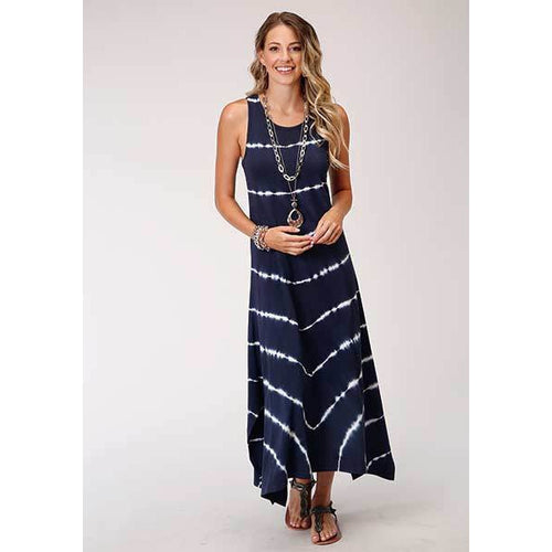 Maxi Tank Navy Dress, by Roper-Dress-[Womens_Boutique]-[NFR]-[Rodeo_Fashion]-[Western_Style]-Calamity's LLC