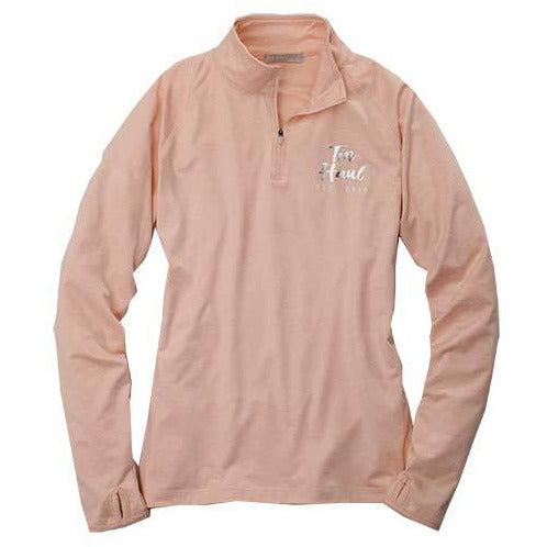 Light Pink Tin Haul 1/4 Quarter Zip-Shirt-[Womens_Boutique]-[NFR]-[Rodeo_Fashion]-[Western_Style]-Calamity's LLC
