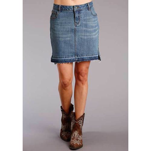 Stetson Apparel Stretch Denim Skirt - All Blinged Out/Calamity's