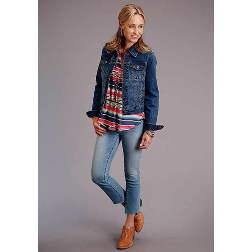 Classic Denim Jacket, by Stetson-Jacket-[Womens_Boutique]-[NFR]-[Rodeo_Fashion]-[Western_Style]-Calamity's LLC