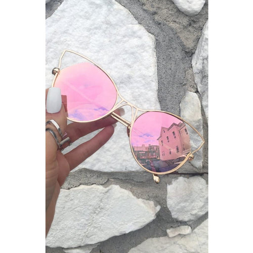 TopFoxx Indcent Cateye Sunnies - All Blinged Out
