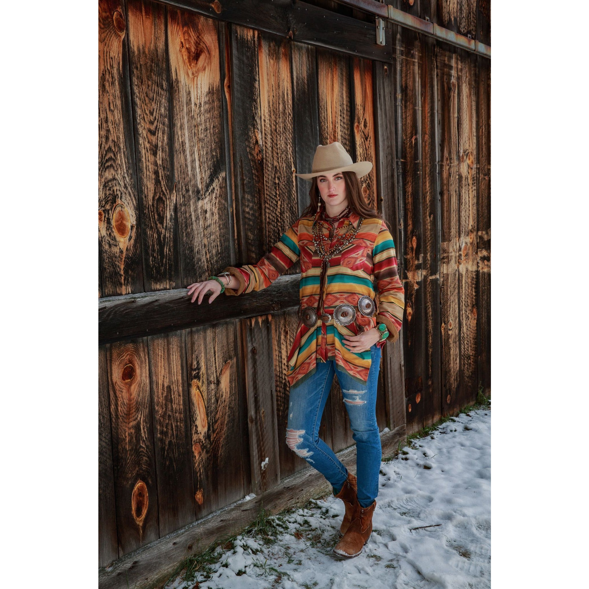 Tasha Polizzi, Maria Serape Button up - All Blinged Out/Calamity's