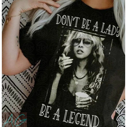 Don't be a Lady, Be a Legend Graphic Tee-Graphic Tee-[Womens_Boutique]-[NFR]-[Rodeo_Fashion]-[Western_Style]-Calamity's LLC