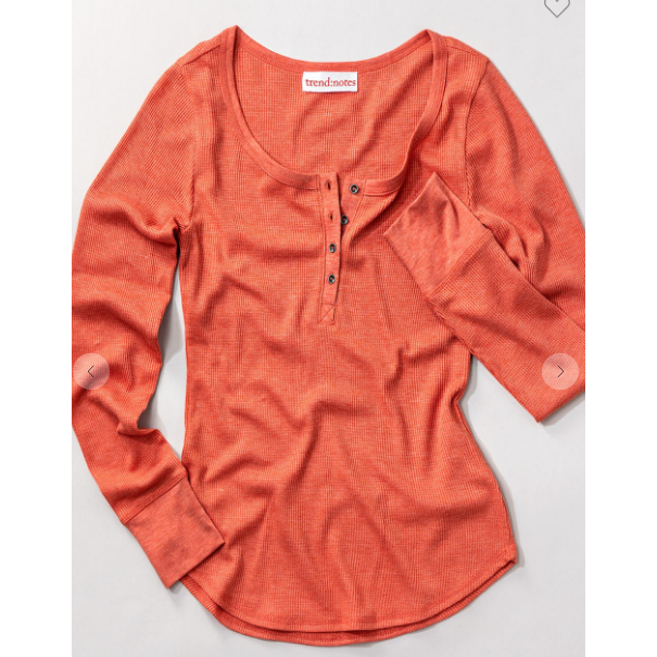 Long sleeve Waffle Knit Thermal-Shirt-[Womens_Boutique]-[NFR]-[Rodeo_Fashion]-[Western_Style]-Calamity's LLC