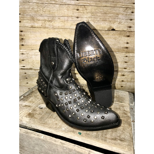 Liberty Black Studdly Booties - All Blinged Out/Calamity's