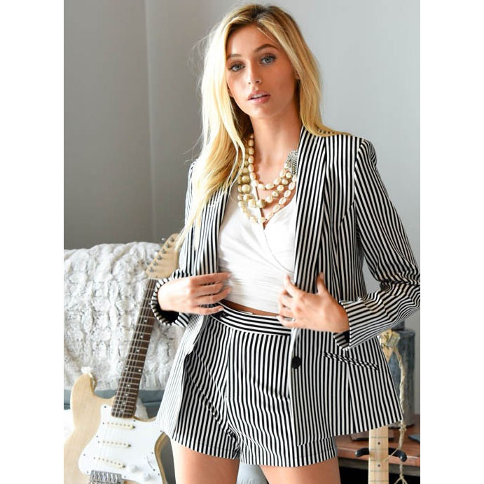 The Pinstriped Jacket, by Judith March-[Womens_Boutique]-[NFR]-[Rodeo_Fashion]-[Western_Style]-Calamity's LLC