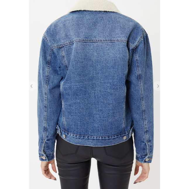 Denim Kancan Faux lining Jacket - All Blinged Out/Calamity's