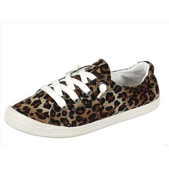 Leopard Canvas Sneakers - All Blinged Out/Calamity's