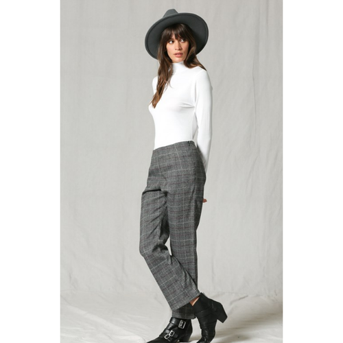 Black and White Checkered Trouser Pants - All Blinged Out/Calamity's