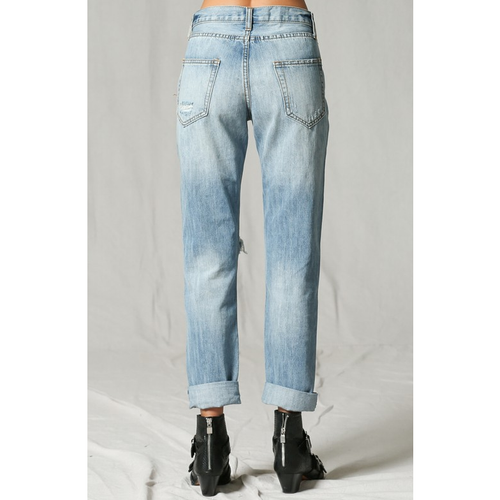 Destroyed Denim Boyfriend jeans, By Together - All Blinged Out/Calamity's