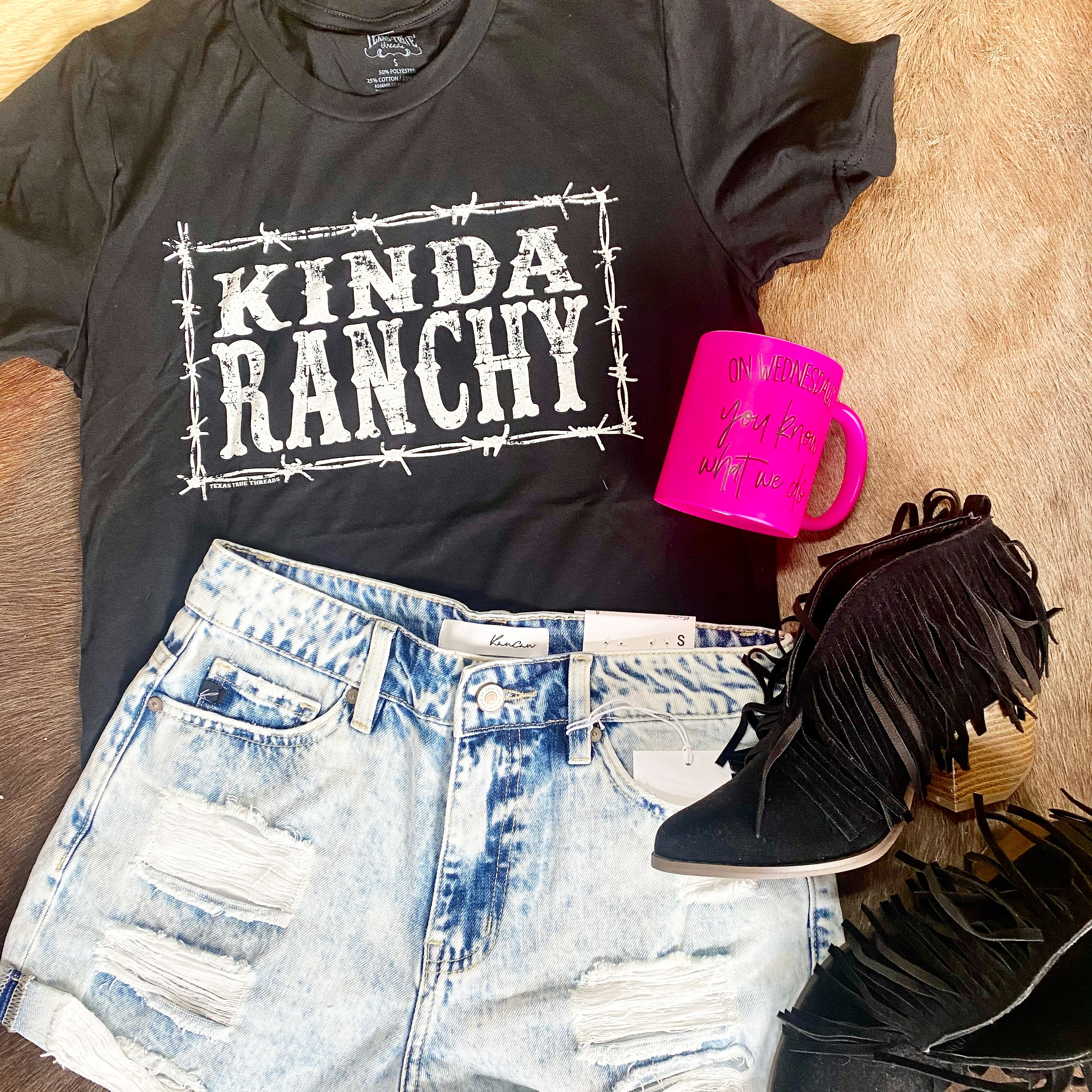 Kinda Ranchy, Graphic T-[Womens_Boutique]-[NFR]-[Rodeo_Fashion]-[Western_Style]-Calamity's LLC