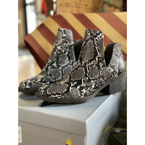 Liberty Black Buffed Metal Booties