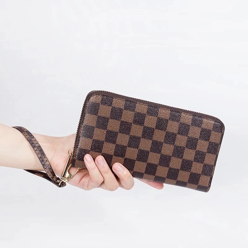 Checkered Rita wallet-[Womens_Boutique]-[NFR]-[Rodeo_Fashion]-[Western_Style]-Calamity's LLC
