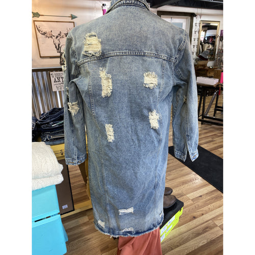 The Calamity destroyed denim jacket. - All Blinged Out/Calamity's