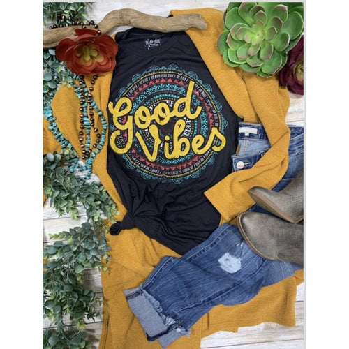 Good Vibes. Graphic T-[Womens_Boutique]-[NFR]-[Rodeo_Fashion]-[Western_Style]-Calamity's LLC