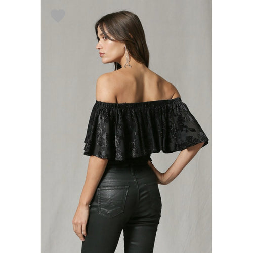 Off the shoulder top - All Blinged Out/Calamity's