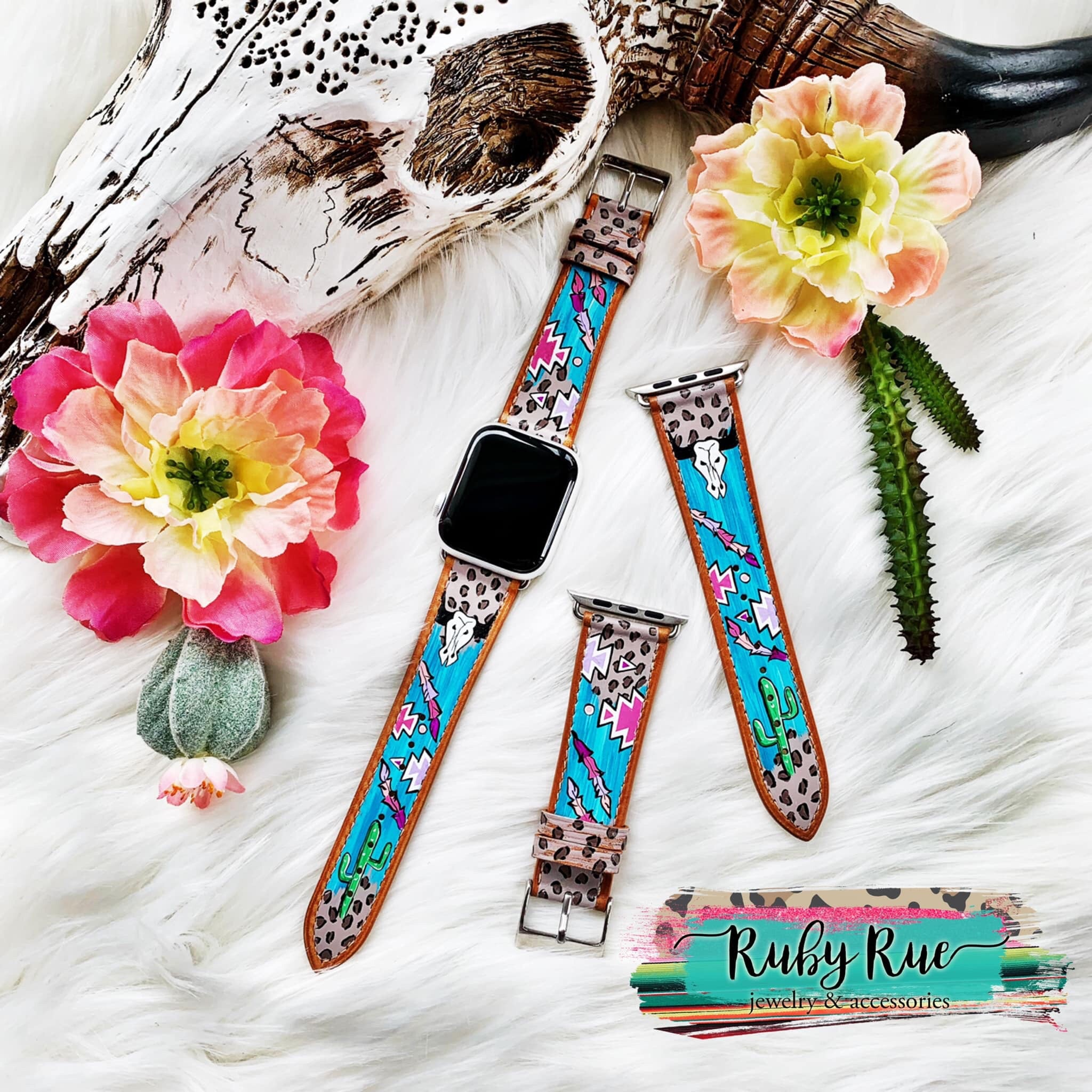 Hand painted Watch Bands - All Blinged Out/Calamity's