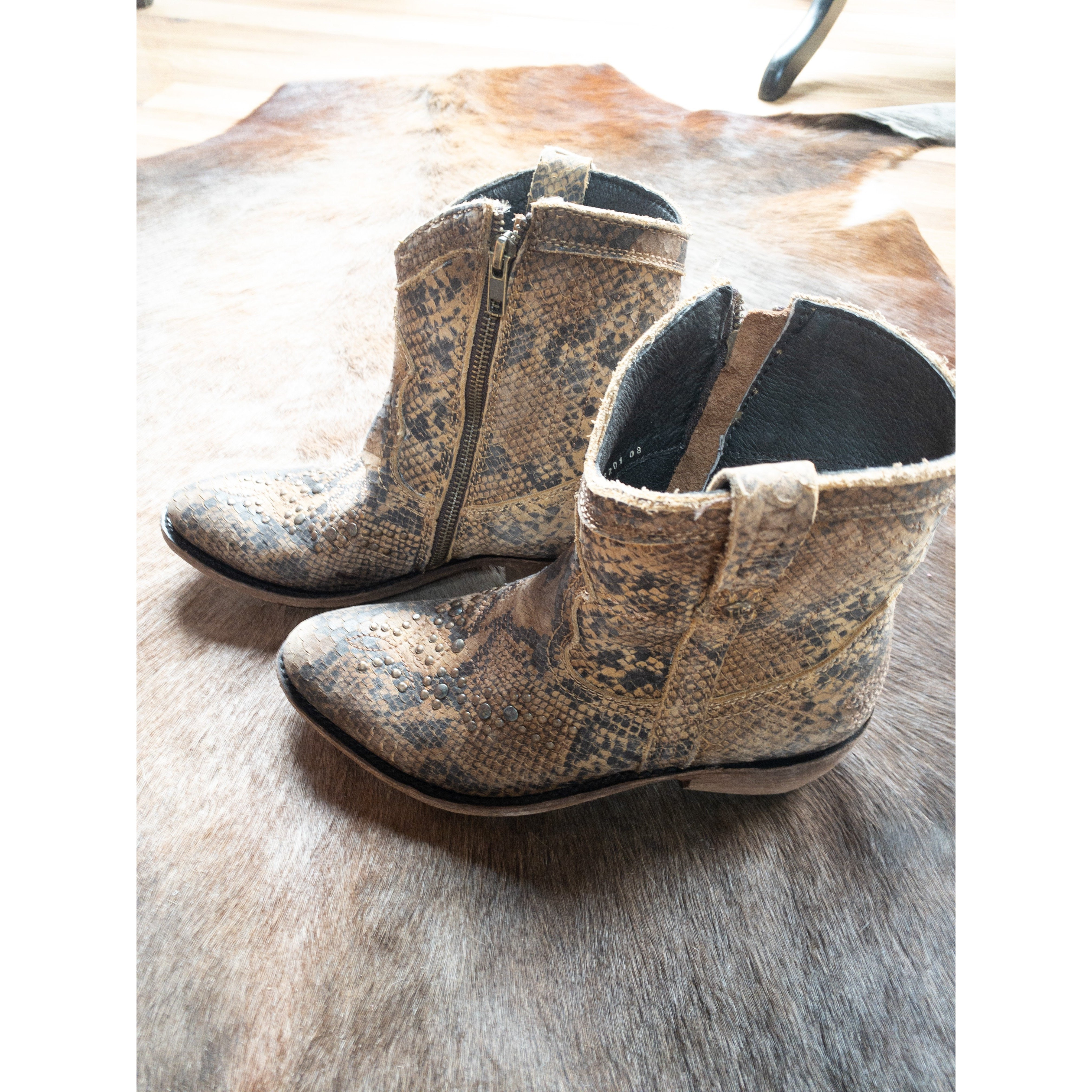 Liberty Black Python Bootie - All Blinged Out/Calamity's